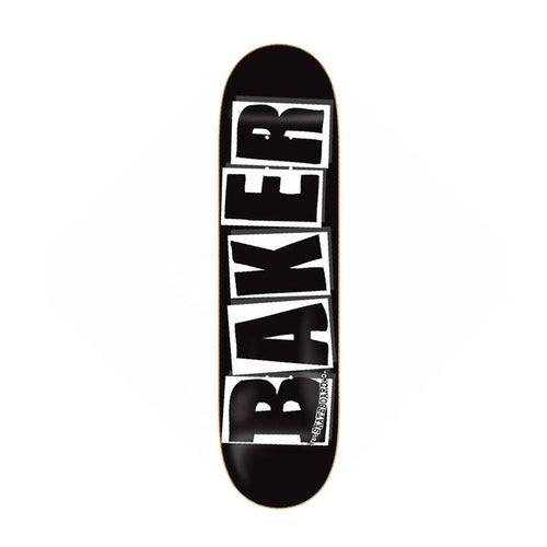 BAKER BRAND LOGO BLACK/WHITE 8.25 X 31.875 - Urban Ave Boardshop
