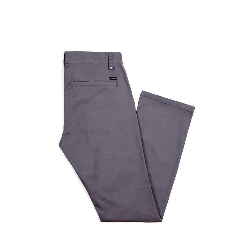 BRIXTON RESERVE CHINO PANT CHARCOAL - Urban Ave Boardshop
