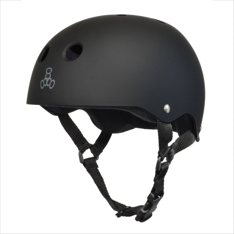 TRIPLE 8 Sweatsaver Helmet All Black Rub - Urban Ave Boardshop