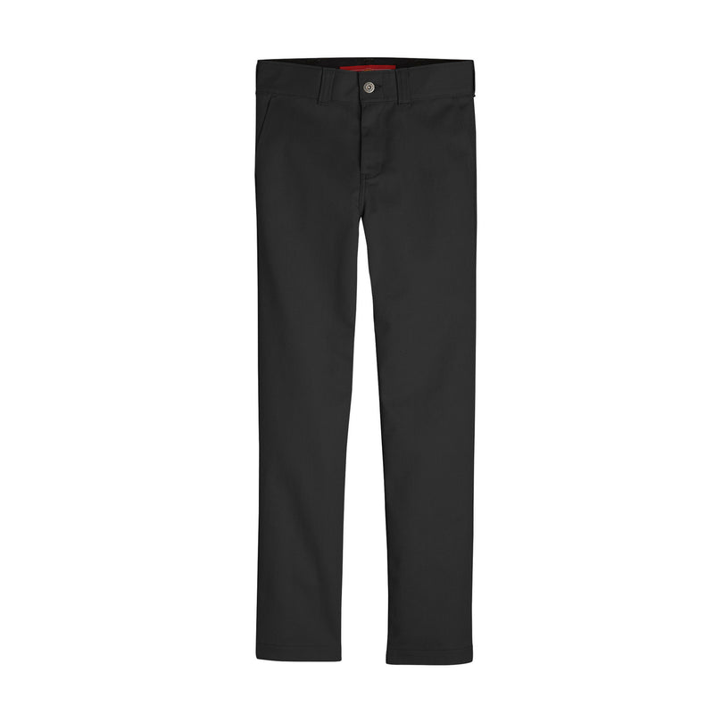 DICKIES '67 SLIM FIT FLEX BOYS' PANTS (BLACK) - Urban Ave Boardshop