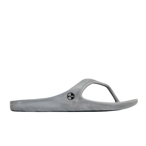 DUAL FOOTWEAR LIBE FLIP FLOP GREY - Urban Ave Boardshop