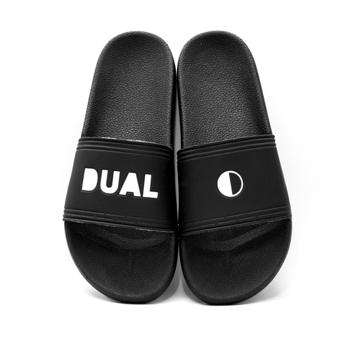 DUAL FOOTWEAR RETRO BLACK  WHITE LOGO - Urban Ave Boardshop