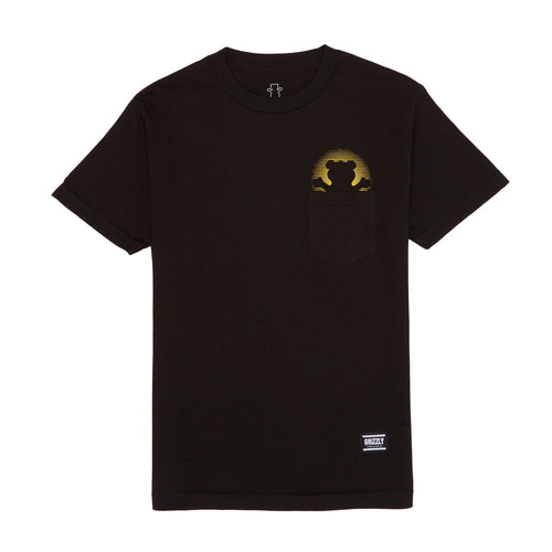 GRIZZLY DAY OFF POCKET T-SHIRT BLACK