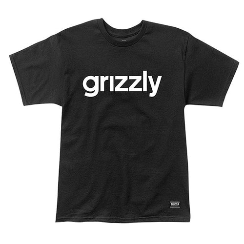 GRIZZLY LOWERCASE T-SHIRT BLACK