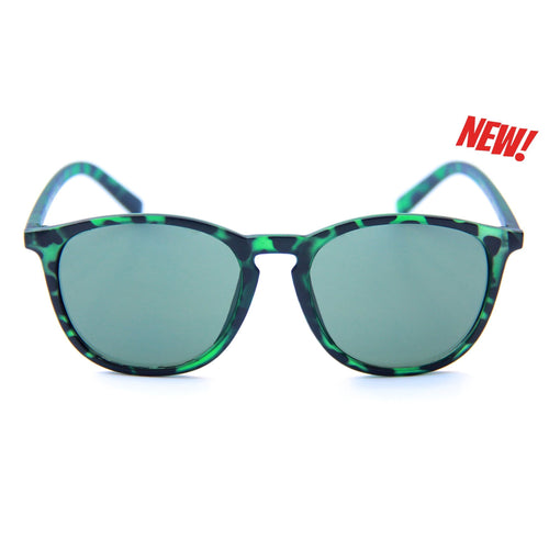 HAPPY HOUR FLAP JACKS MATTE GREEN TORTOISE POLARIZED