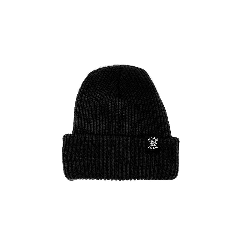 HARD LUCK OG LOGO WOVEN BEANIE BLACK - Urban Ave Boardshop