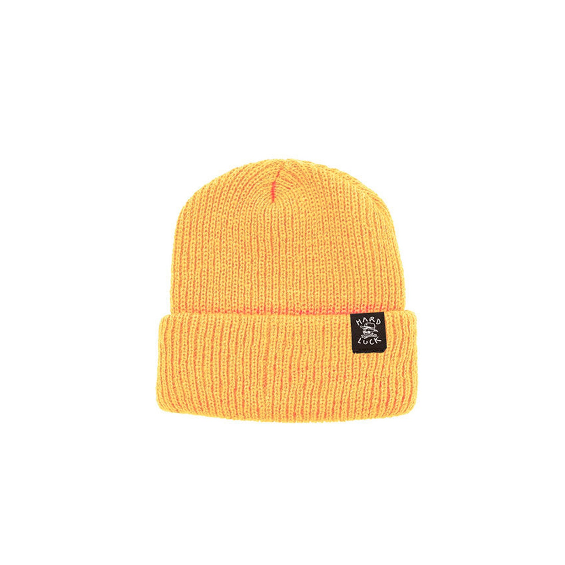 HARD LUCK OG LOGO WOVEN BEANIE YELLOW - Urban Ave Boardshop caf3b036d90