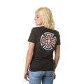 INDEPENDENT BAR/CROSS FITTED  S/S T-SHIRT WOMENS WHITE - Urban Ave Boardshop