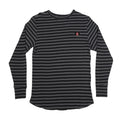 INDEPENDENT T-SHIRT SCORCH L/S THERMAL BLACK/DARK GREY MENS - Urban Ave Boardshop