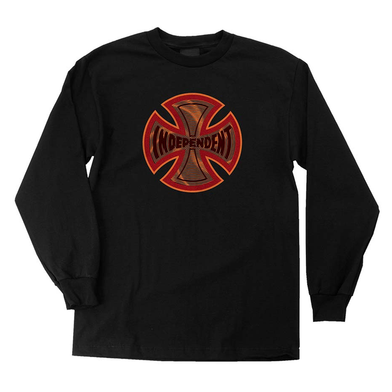 Independent Coil L/S Regular T-Shirt Black - Urban Ave Boardshop