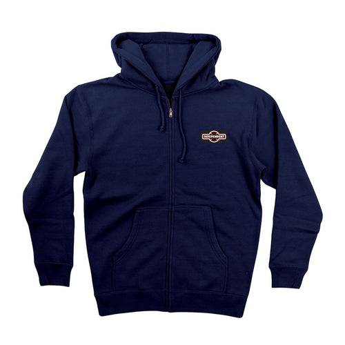 Independent O.G.B.C. Patch Zip Hooded Navy