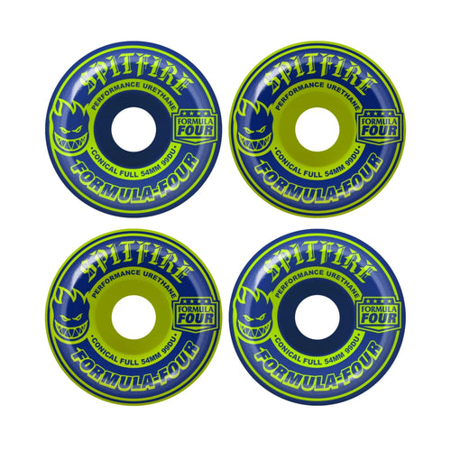 SPITFIRE F4 NAVY/LIME CONICAL FULL MASHUP 54MM