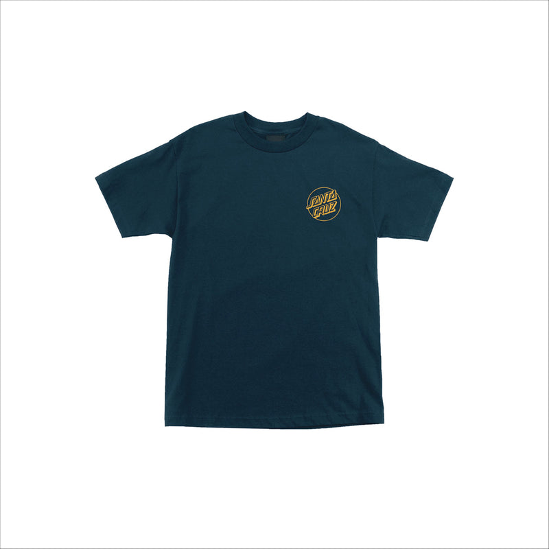 Santa Cruz Opus Dot S/S Regular T-Shirt Harbor Blue w/Gold - Urban Ave Boardshop