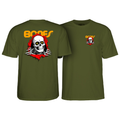 POWELL PERALTA RIPPER  T-SHIRT MILITARY GREEN - Urban Ave Boardshop