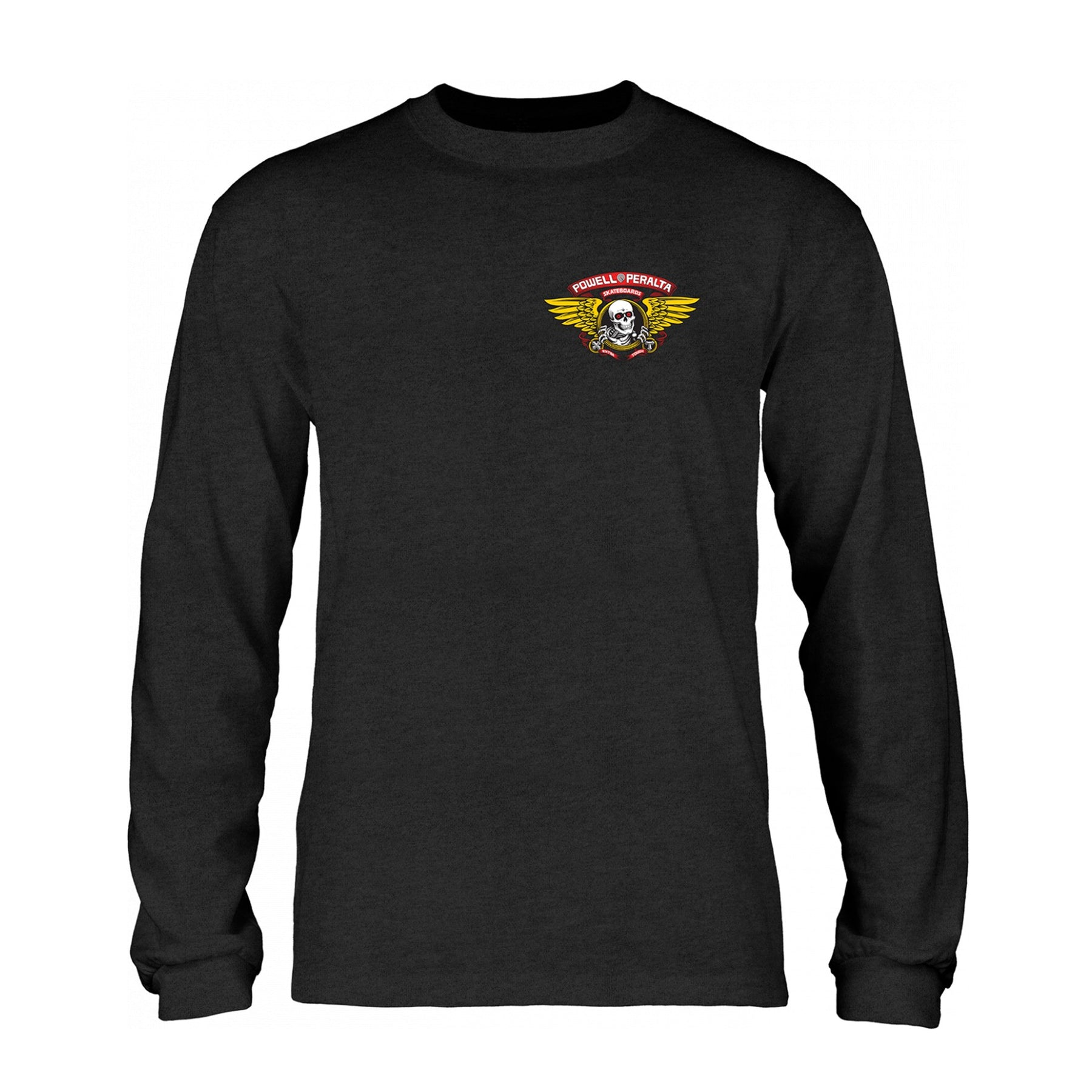 f7c2e3678b63 POWELL PERALTA WINGED RIP LONG-SLEEVE CHARCOAL HEATHER – Urban Ave ...