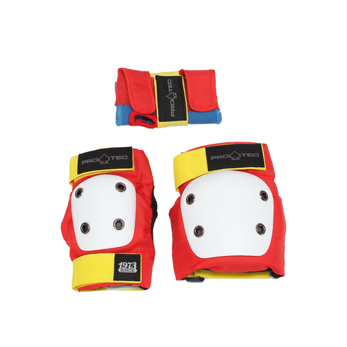 PRO-TEC STREET GEAR JR 3 PACK RETRO RED