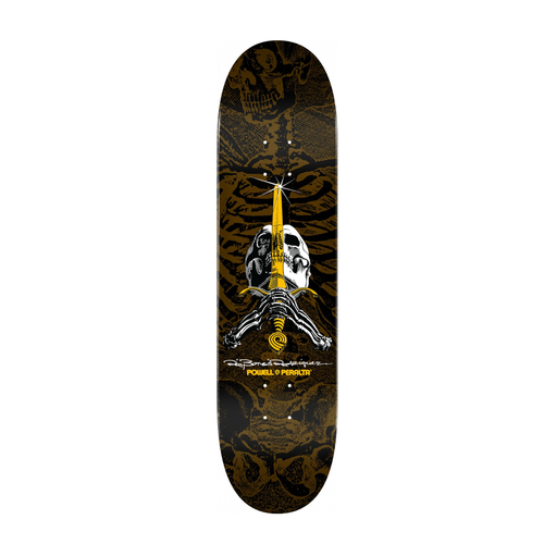 Powell Peralta Skull and Sword Skateboard Deck Brown  9.05 x 32.095