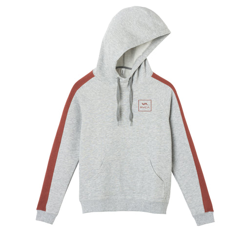 RVCA ALL THE WAY HOODI HEATHER GREY