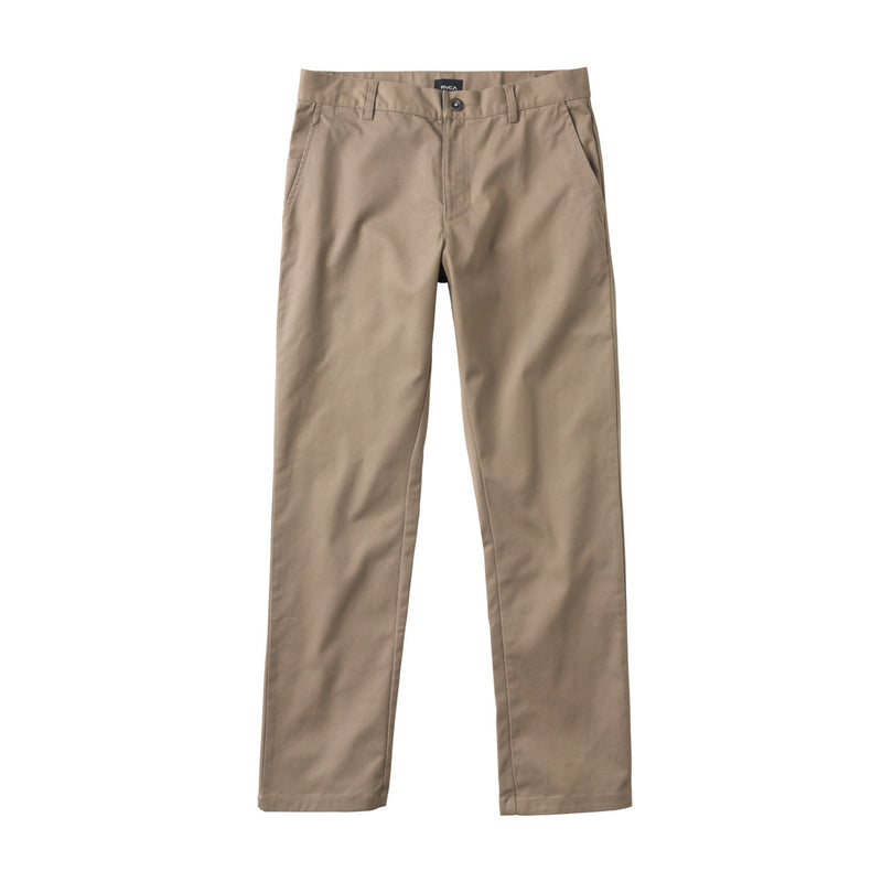 RVCA WEEKEND STRETCH PANTS (DARK KHAKI) - Urban Ave Boardshop