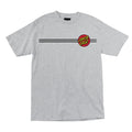SANTA CRUZ CLASSIC DOT S/S MENS T-SHIRT HEATHER GREY - Urban Ave Boardshop