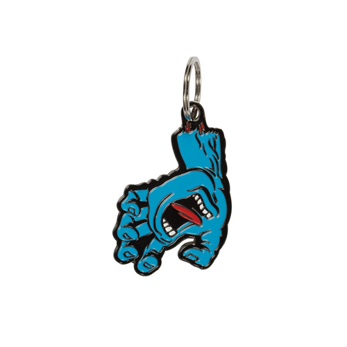 SANTA CRUZ SCREAMING HAND Key Chain Blue OS