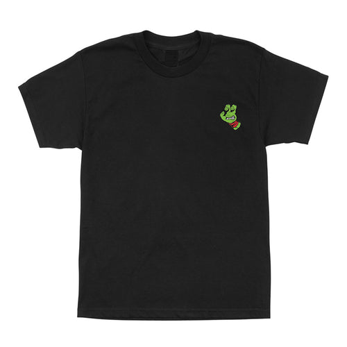 SANTA CRUZ T-SHIRT TMNT TURTLE HAND BLACK W/PURPLE YOUTH