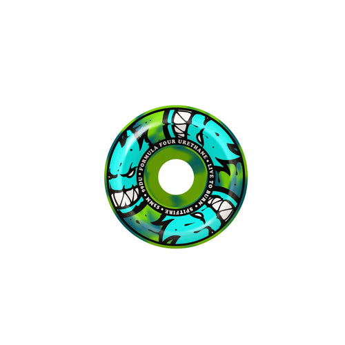 SPITFIRE F4 99 AFTERBURNERS BLUE/GREEN SWIRL CONICAL FULL 53MM
