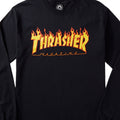THRASHER FLAMES L/S BLACK/YELLOW - Urban Ave Boardshop