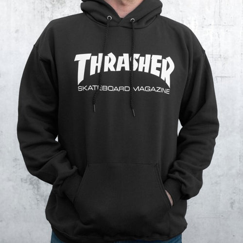 THRASHER MEN'S SKATE MAG HOOD BLACK - Urban Ave Boardshop