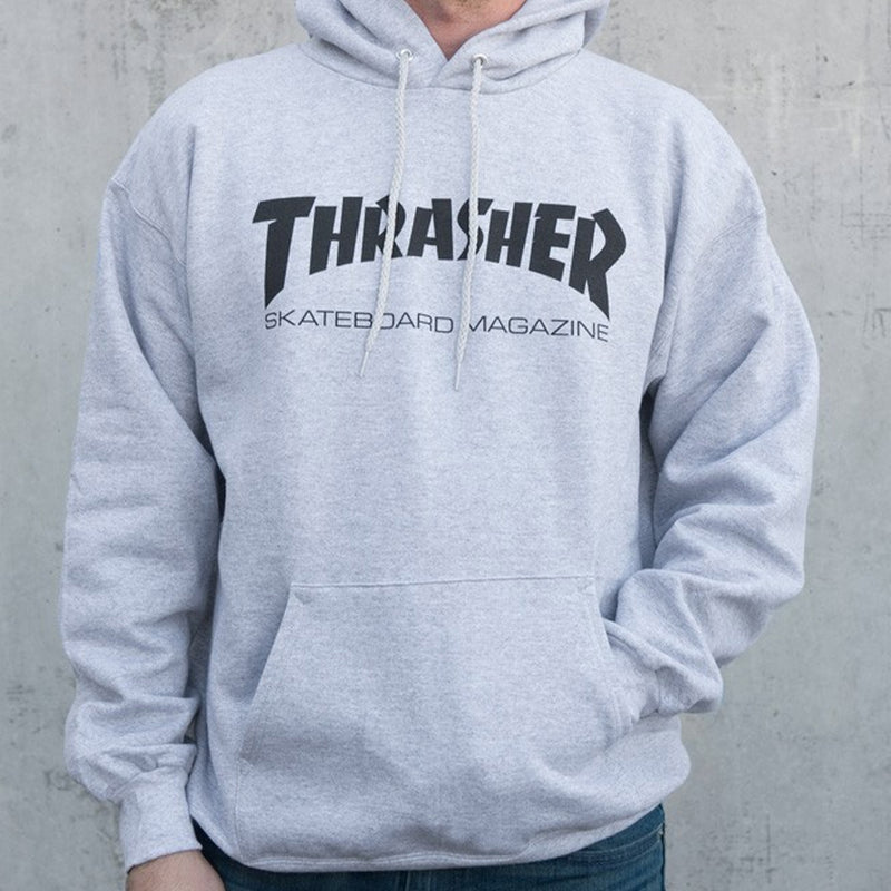 THRASHER MEN'S SKATE MAG HOOD GREY - Urban Ave Boardshop