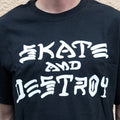 THRASHER T-SHIRTS-SKATE & DESTROY BLACK - Urban Ave Boardshop