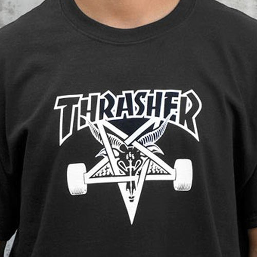 THRASHER T-SHIRTS SK8GOAT BLACK - Urban Ave Boardshop