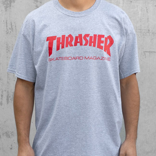 THRASHER T-SHIRT SKATEMAG SS GRAY - Urban Ave Boardshop