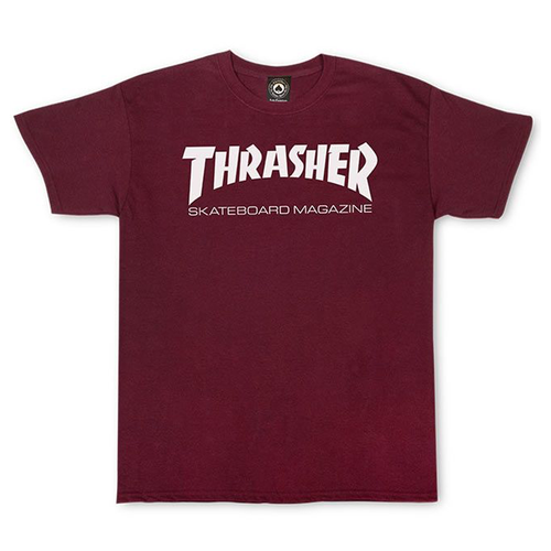 THRASHER T-SHIRT SKATEMAG SS MAROON - Urban Ave Boardshop