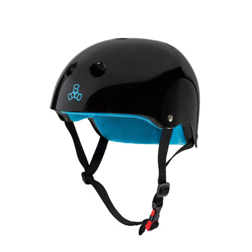 TRIPLE 8 CERTIFIED  SWEATSAVER HELMET BLACK GLOSSY