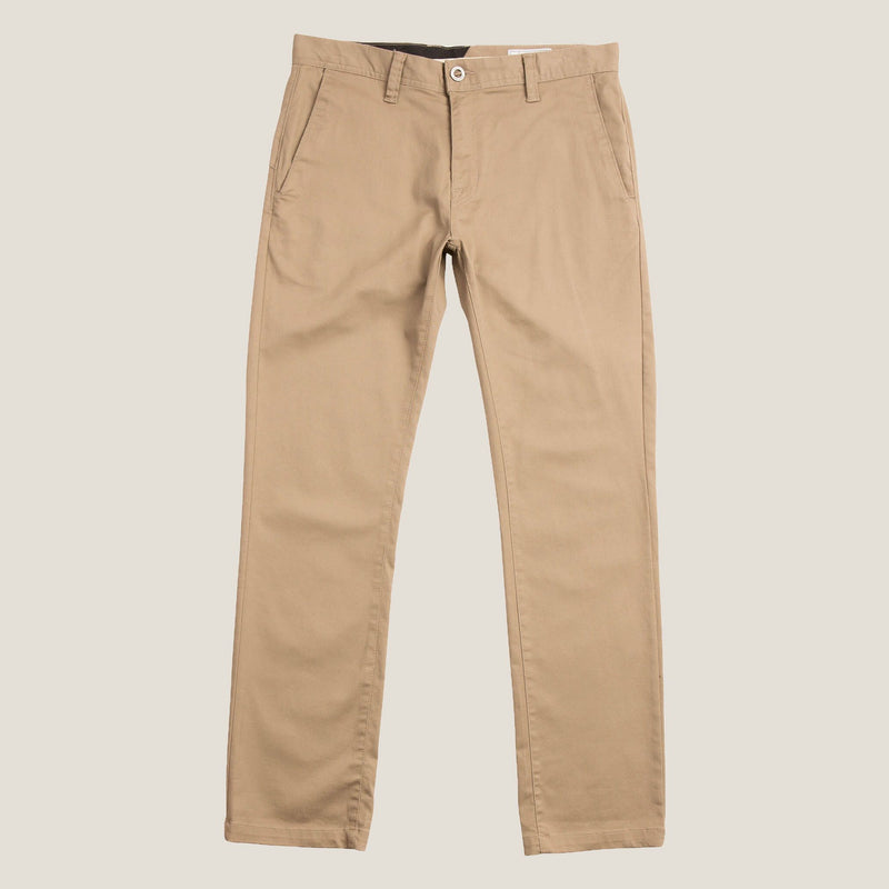 VOLCOM FRICKIN MODERN STRETCH CHINO PANTS (KHAKI) - Urban Ave Boardshop