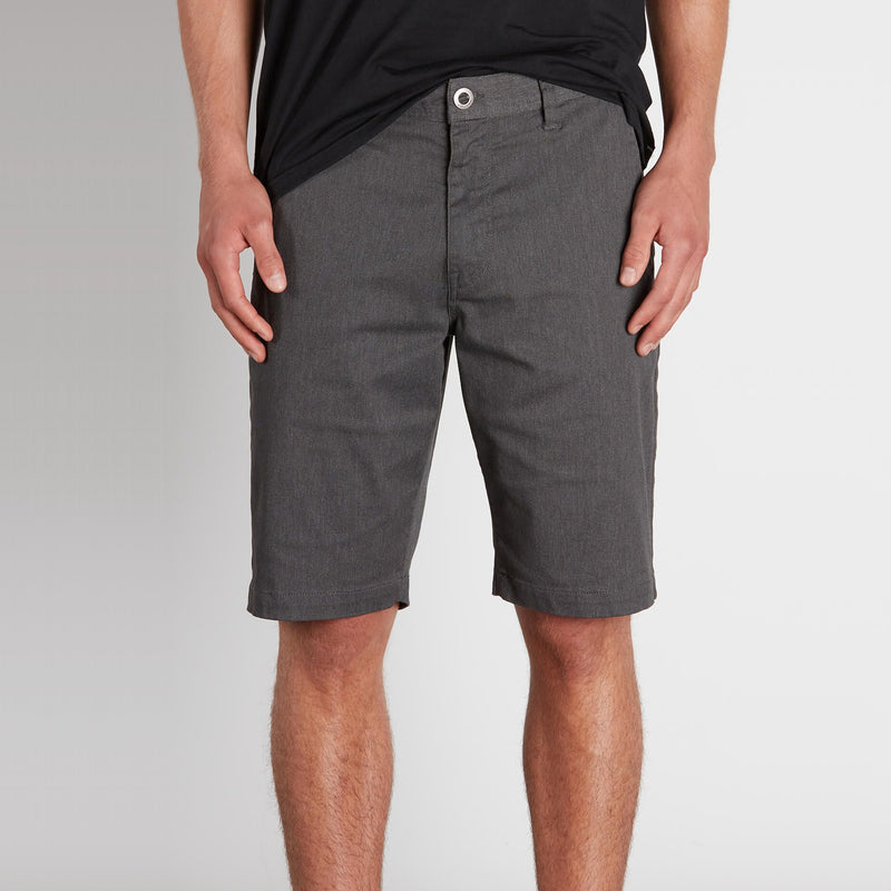 VOLCOM FRICKIN MODERN STRETCH CHINO SHORT (CHARCOAL HEATHER) - Urban Ave Boardshop