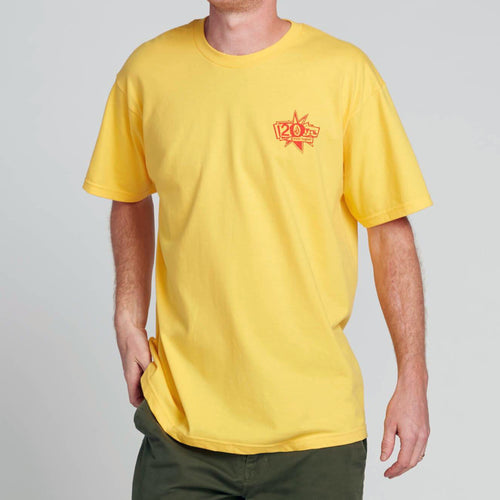 VOLCOM GTXX DOWN SOUTH FT SHORT SLEEVE TEE YELLOW