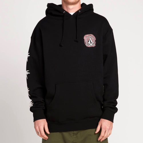 VOLCOM GTXX DOWN SOUTH PULLOVER HOODIE BLACK