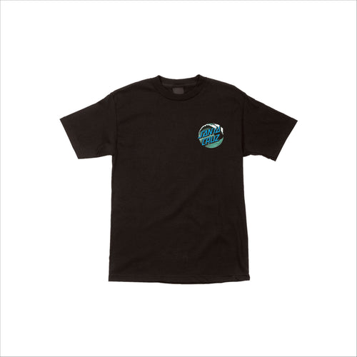Santa Cruz Wave Dot S/S Youth T-Shirt Black - Urban Ave Boardshop