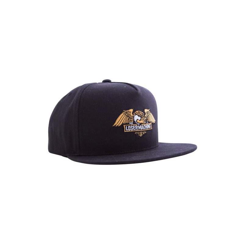 Loser Machine Wings Snapback Black - Urban Ave Boardshop