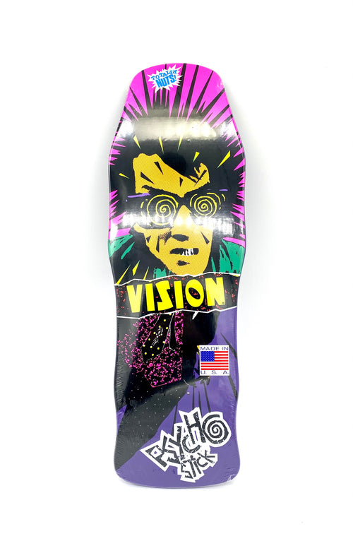 VISION PSYCHO STICK DECK 10' X 30.5'  PURPLE