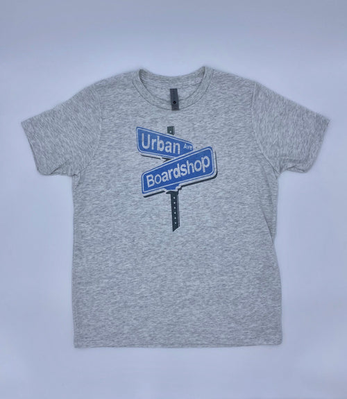 URBAN AVE BOARDSHOP KIDS SIGN TEE - ANTIQUE WHITE - Urban Ave Boardshop