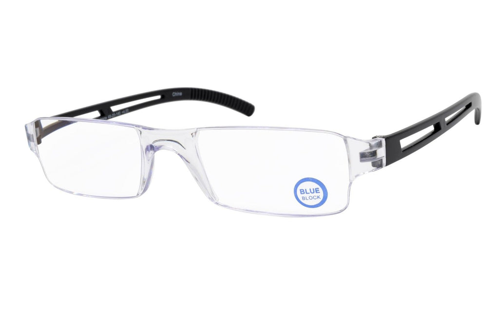 Rimless Computer Reading Glasses with Blue Light Blocking Lens +1.00 Strength - Blue Light Blocking Eyewear