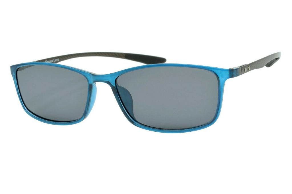 Verona Love Polarized Sunglasses carbon fiber temples Unisex VLV ZK033 C1 Teal - Blue Light Blocking Eyewear