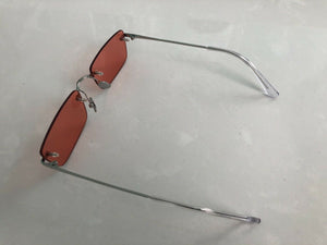 Thin rimless vintage color 90s 80s HAND MADE sunglasses Kylie Jenner - Blue Light Blocking Eyewear