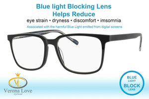 Computer Eyeglasses Blue Light Blocking lens ISLE Verona Love Handmade acetate - Blue Light Blocking Eyewear