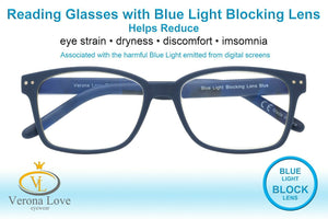 TRELEW Blue Light Blocking Lenses Computer Reading Glasses Unisex + 1.00 - Blue Light Blocking Eyewear