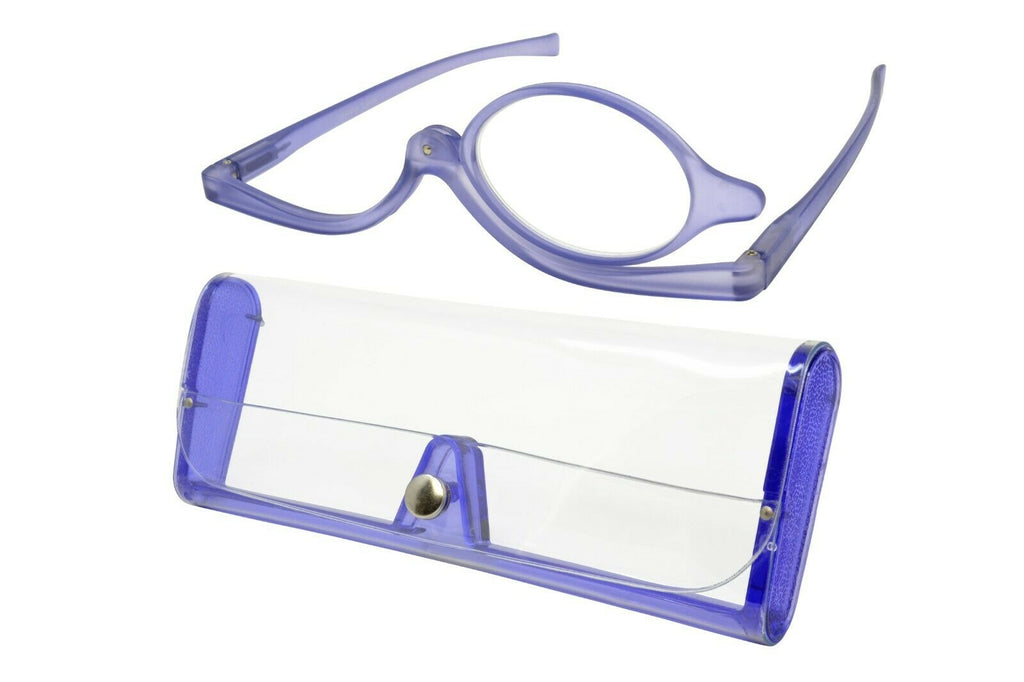 Verona Love Teté Makeup Magnifying Glasses Swivel Single Lens Purple Power +4.00 - Blue Light Blocking Eyewear