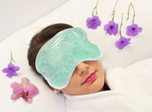 Therapeutic Bead Pearl Gel Eye Mask & Body Wrap Hot / Cold Reusable Rejuvenate - Blue Light Blocking Eyewear